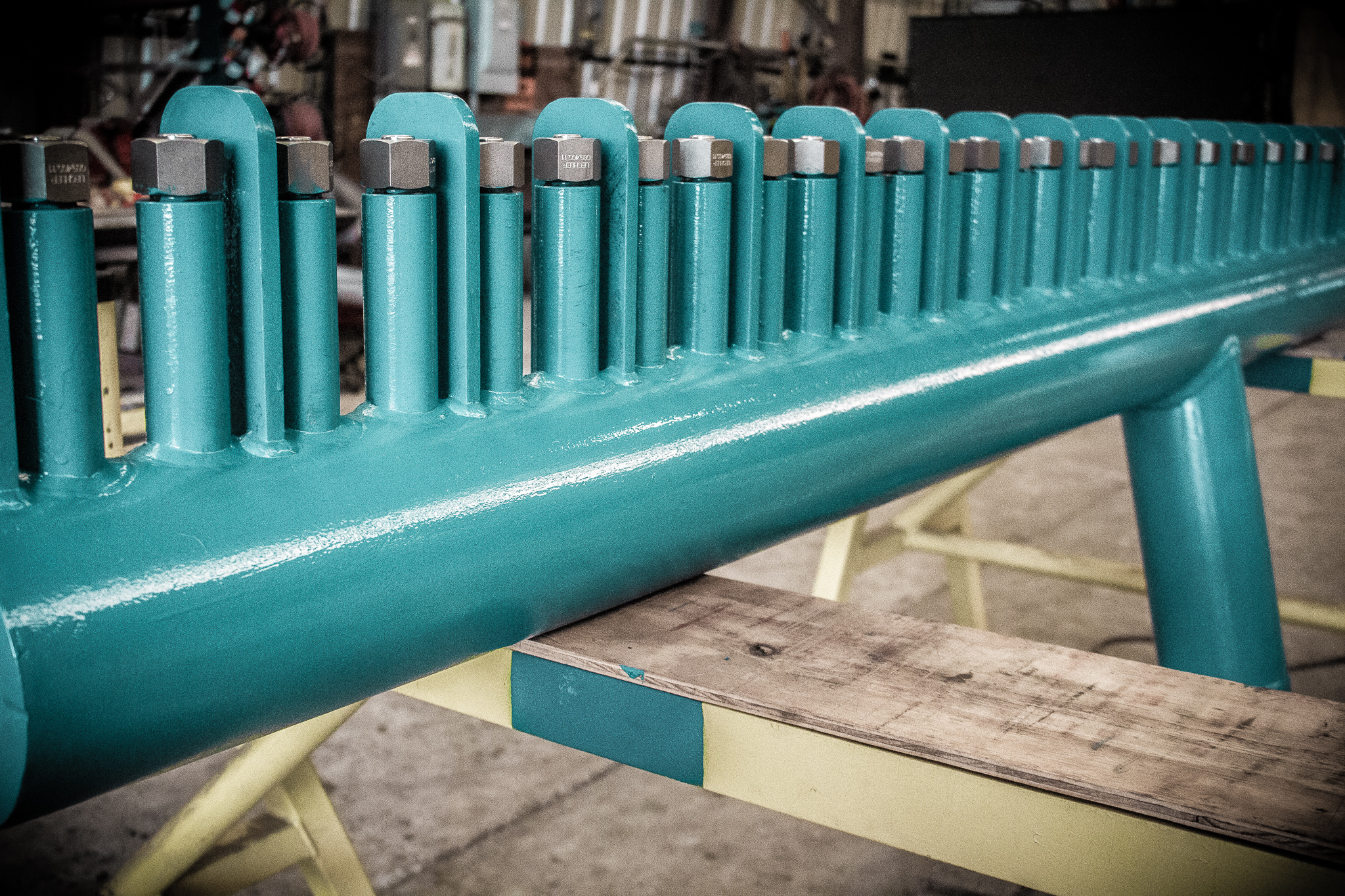 Nucor Steel interpass header completed and painted
